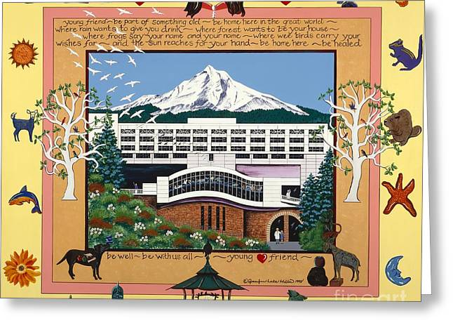 Dorenbecher Hospital Greeting Card by Jennifer Lake