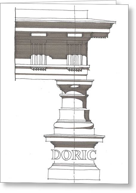 Doric Order Greeting Card by Calvin Durham