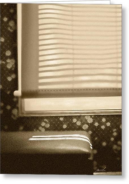 Dorment Shadows Greeting Card by The Art of Marsha Charlebois