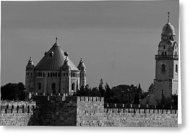 Dormition Abbey Greeting Card by Amr Miqdadi