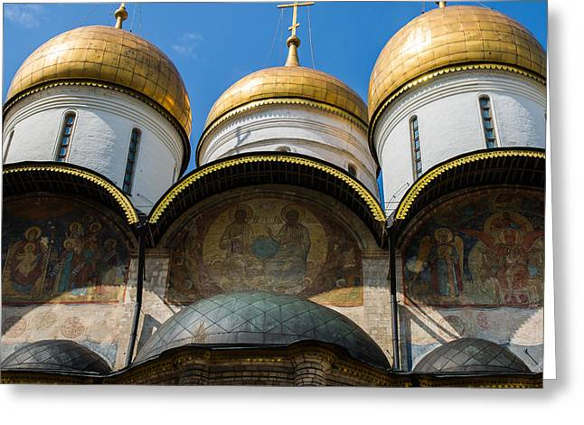 Dormition Cathedral - Square Greeting Card by Alexander Senin