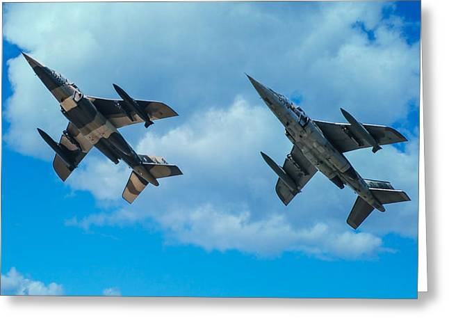 Dornier Alpha Jets Greeting Card by Bianca Nadeau
