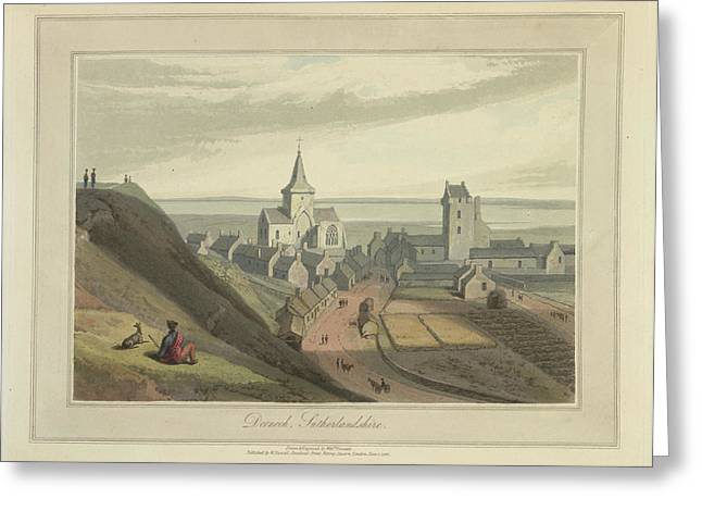Dornoch Town In Sutherlandshire Greeting Card by British Library