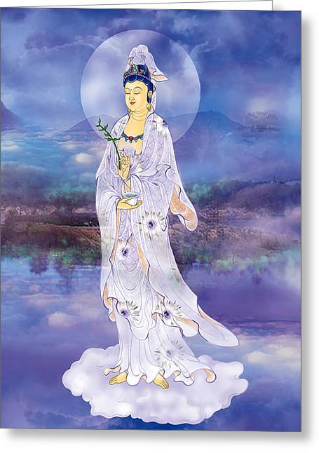 Doro Guanyin Greeting Card by Lanjee Chee