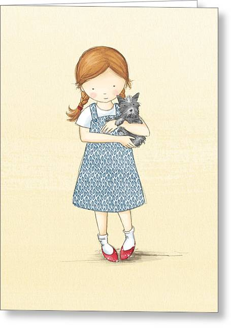Dorothy Greeting Card by Amanda Francey