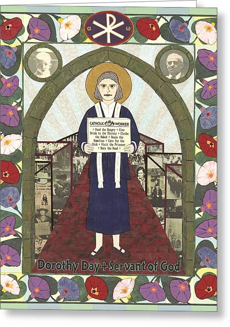 Dorothy Day Icon Greeting Card by David Raber