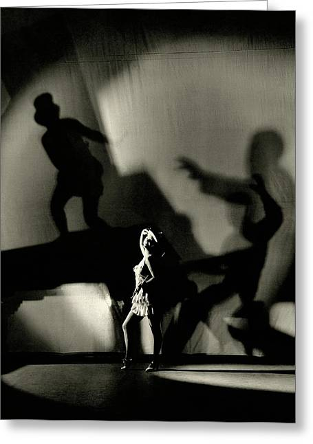 Dorothy Mackaill With Ominous Shadows Greeting Card by Florence Vandamm
