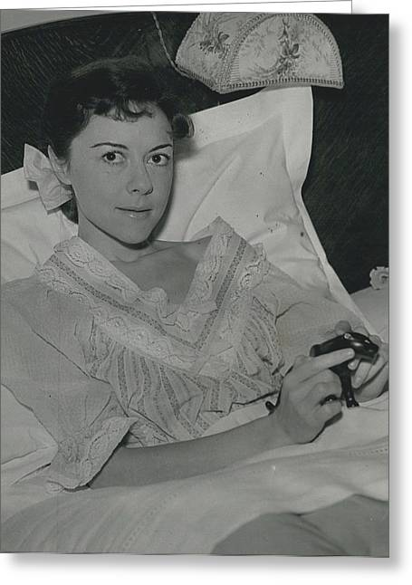Dorothy Tutin Recovers Prom Her Illness Greeting Card by Retro Images Archive