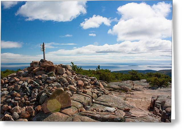 Dorr Mountain Summit - Acadia Greeting Card