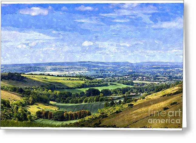 Dorset Countryside At Dinahs Hollow Blackmore Vale Dorset England Uk Greeting Card by Jon Boyes