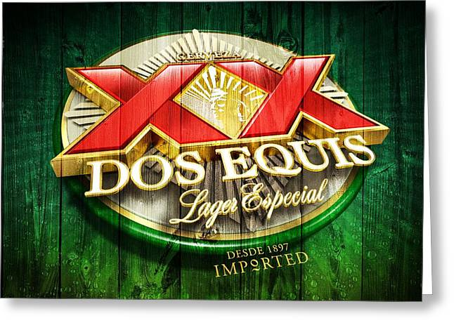 Dos Equis Barn Greeting Card by Dan Sproul