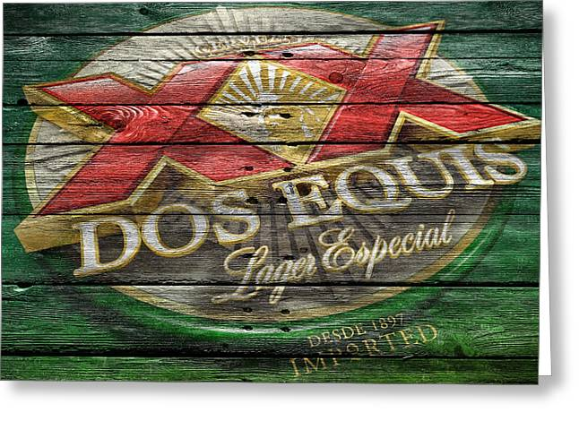 Dos Equis Greeting Card by Joe Hamilton