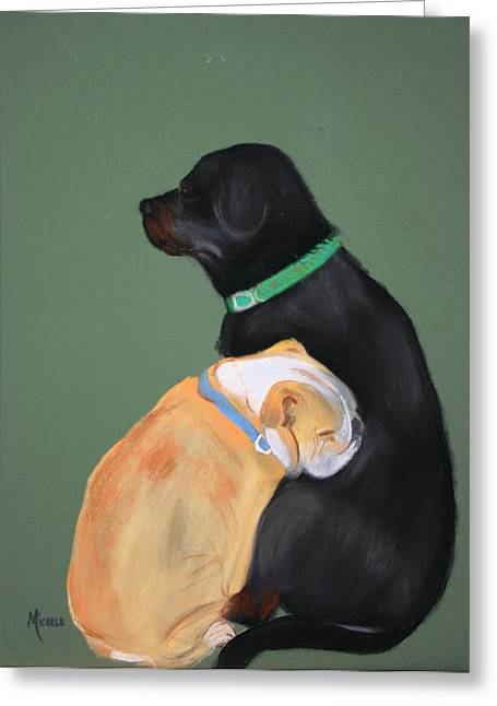 Doser And Cody Greeting Card by Michele Turney