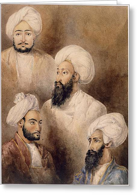 Dost Muhammad Khan And Family Greeting Card by British Library