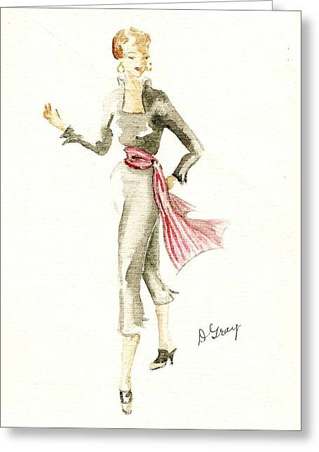 Tango Greeting Card by Beverly Solomon Design