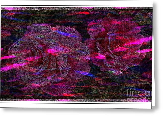 Dots Of Light And Roses Greeting Card by Barbara Griffin