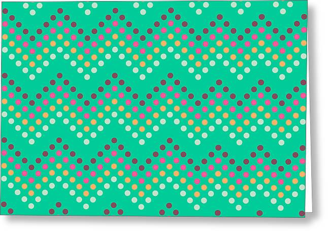 Dotted Lines Zigzag Pattern With Greeting Card