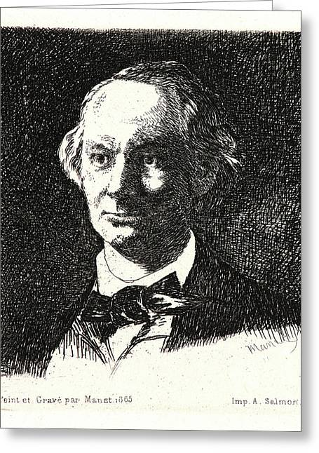 Édouard Manet French, 1832 - 1883. Charles Baudelaire De Greeting Card by Litz Collection