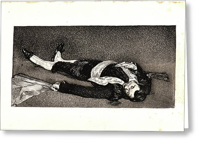 Édouard Manet French, 1832 - 1883. The Dead Toreador Le Greeting Card by Litz Collection