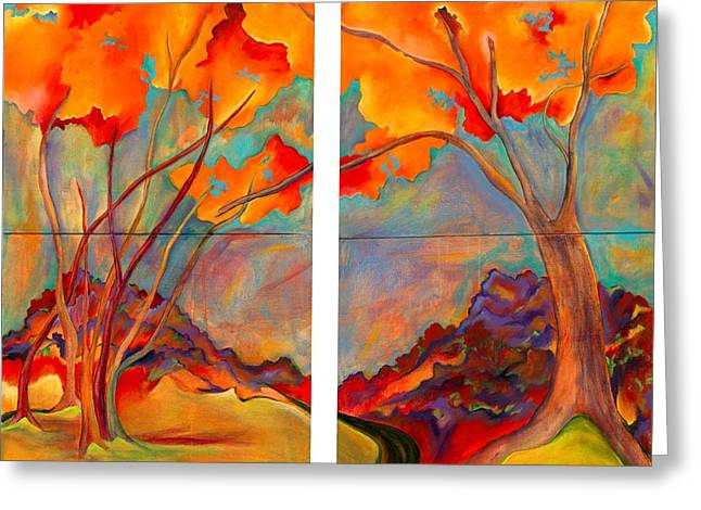 Double Arbor Greeting Card