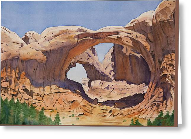Double Arch Greeting Card by Christopher Reid