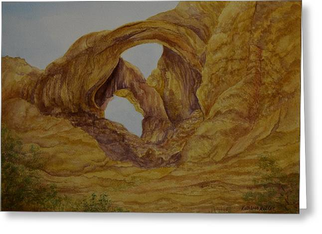 Double Arches Greeting Card by Kathleen Keller
