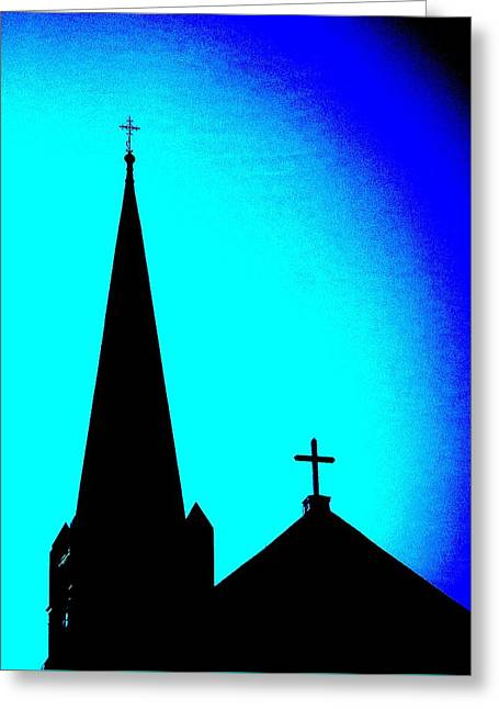 Double Crosses Greeting Card by Chris Berry