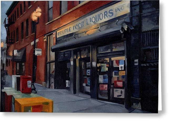 Double Door Wicker Park Bucktown Chicago Greeting Card