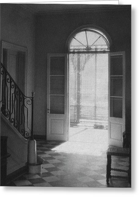 Double Doors In The Home Of Dr. Joseph Weis Greeting Card by Raymond Bret-Koch
