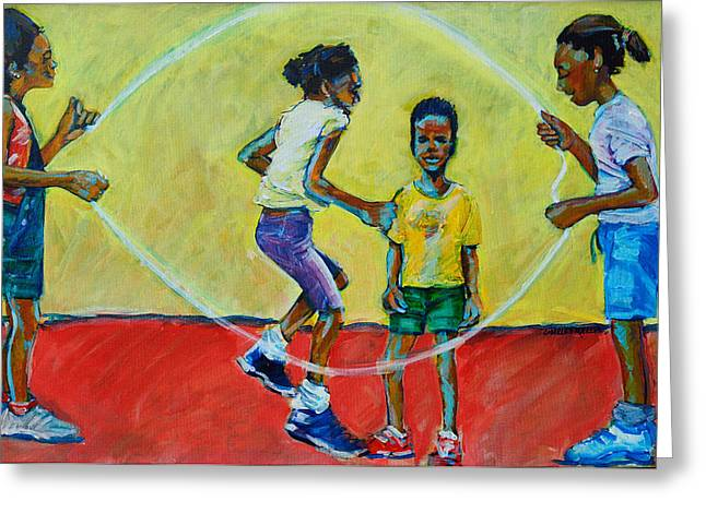 Double Dutch Greeting Card by Charles M Williams