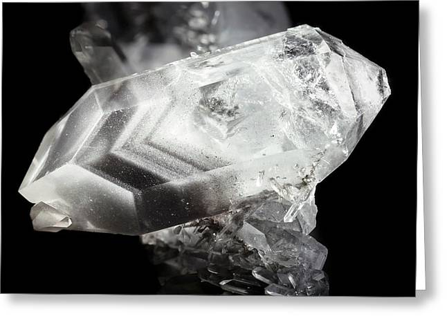 Double-ended Quartz Crystal Greeting Card by Dr Juerg Alean