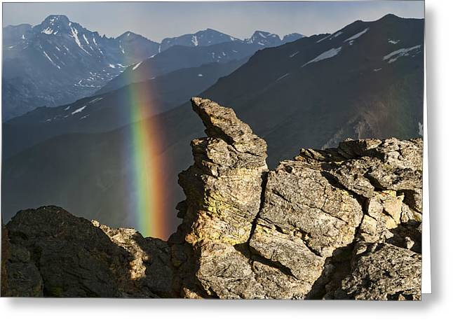 Double Rainbow At Rock Cut Greeting Card by Gregory Scott