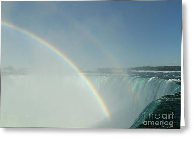 Greeting Card featuring the photograph Double Rainbow by Brenda Brown
