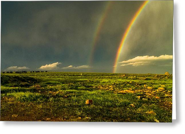 Double Rainbow Greeting Card by Craig Brown