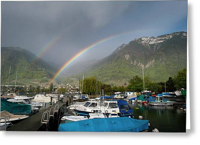 Double Rainbow Greeting Card by Duncan Shaw