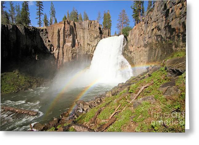 Double Rainbow Falls Greeting Card