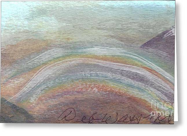 Double Rainbow In Mountains Greeting Card by Debbie Wassmann