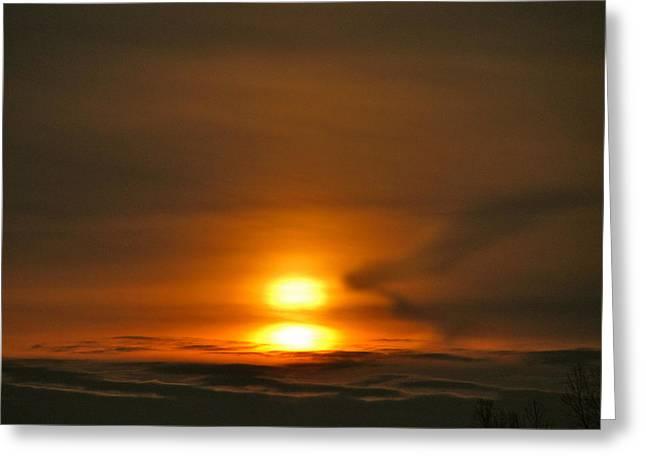 Double Sunrise Greeting Card
