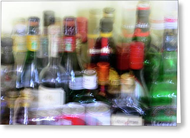 Double Vision And Alcohol Greeting Card