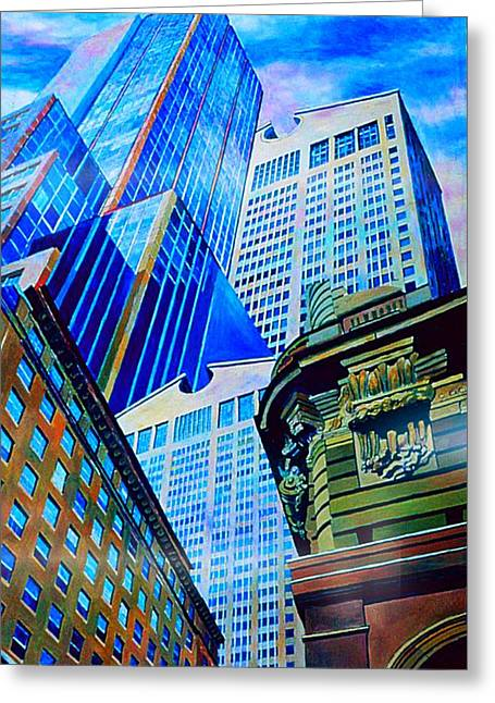 Double Vision Nyc Greeting Card