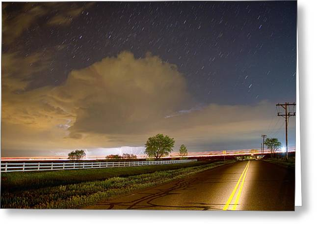 Double Yellow Storm Chase Greeting Card by James BO  Insogna