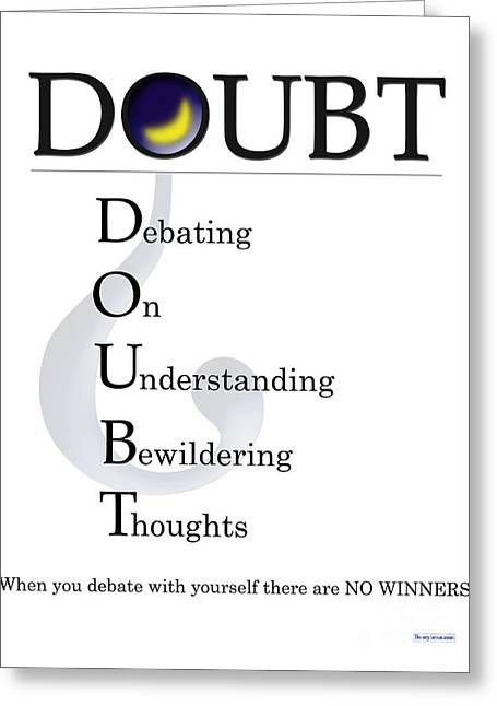 Doubt Buseyism - Original Artwork Greeting Card