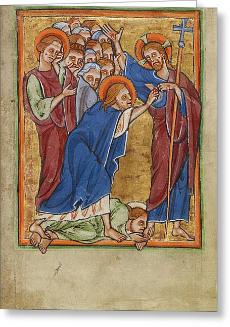 Doubting Thomas Unknown York Perhaps Illuminated Greeting Card