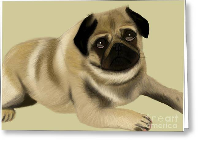 Doug The Pug Greeting Card