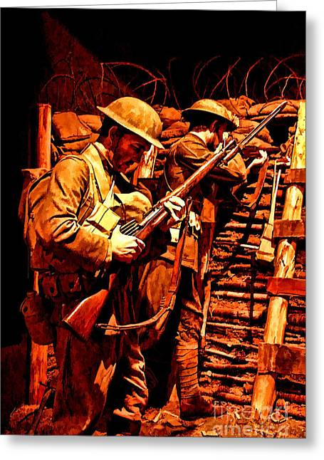 Doughboys  Greeting Card by Tommy Anderson