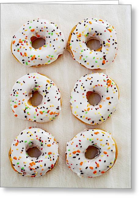 Doughnut Art Greeting Card by Kim Fearheiley