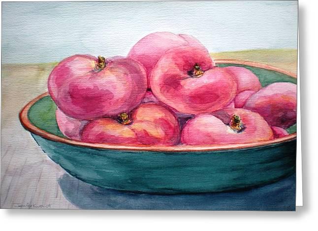 Doughnut Peach Greeting Card by Jennifer Kwon
