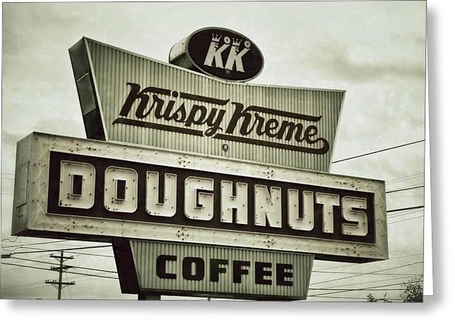 Doughnuts And Coffee Greeting Card by Brandon Addis