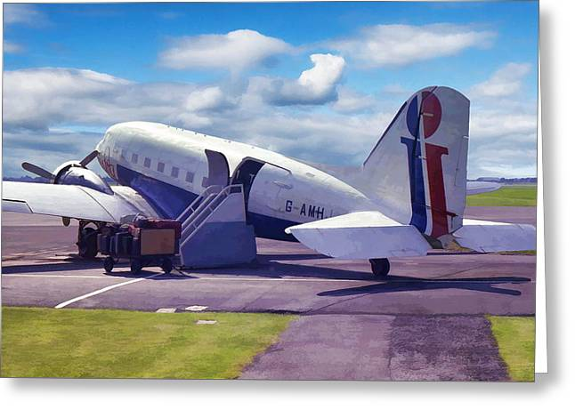 Greeting Card featuring the photograph Douglas Dakota Dc3 by Paul Gulliver