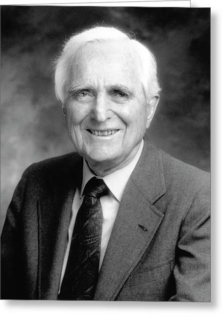 Douglas Engelbart Greeting Card by Emilio Segre Visual Archives/american Institute Of Physics